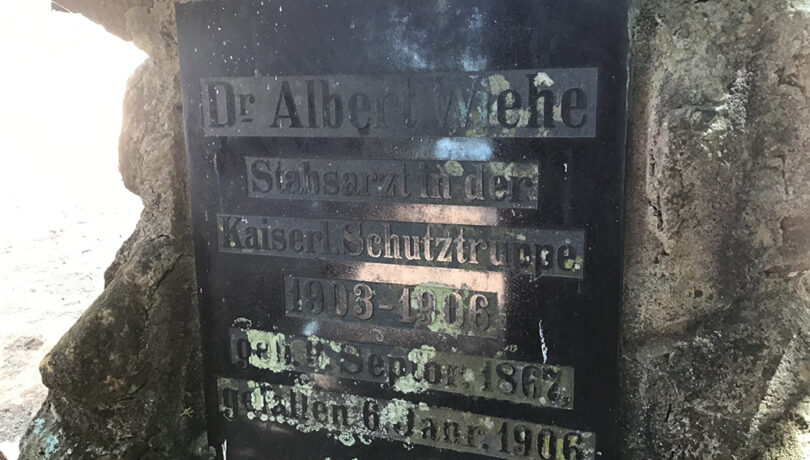 A grave of a German missionary at Yakobi