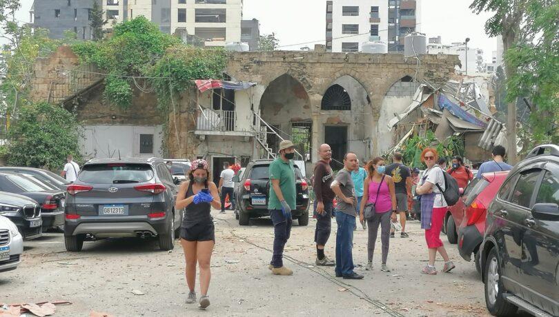 A heritage building that was damaged by the Beirut Port_s Blast in August 2020, Credits (Abir Zaatari, 2020)