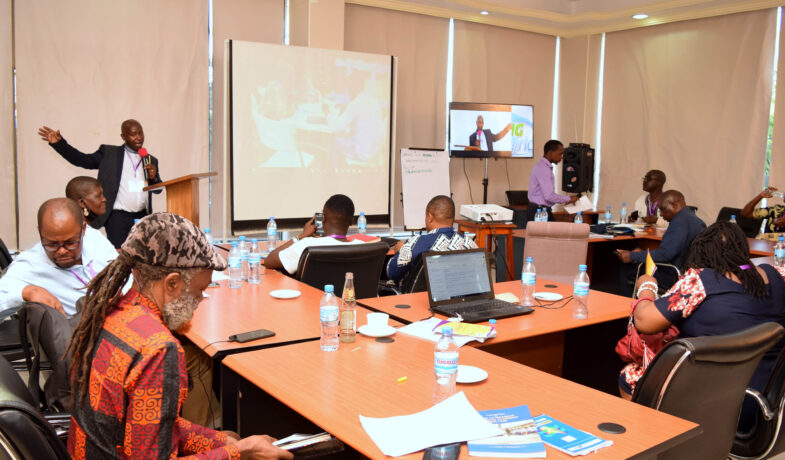 Dr Silayo, Stress a point to the workshop participants