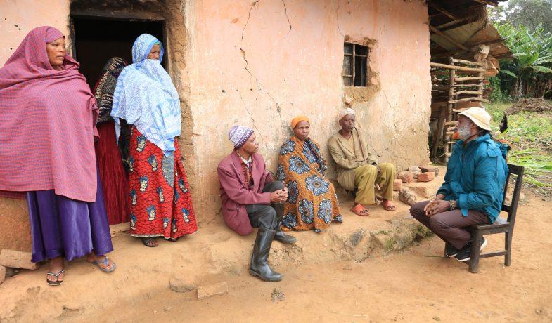 Discussing with community elders in Tanga Region